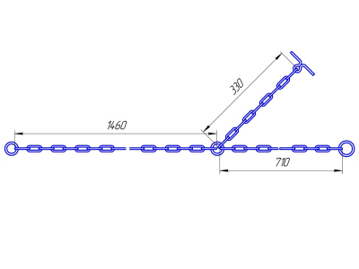 привязь для крс из 6 мм цепи